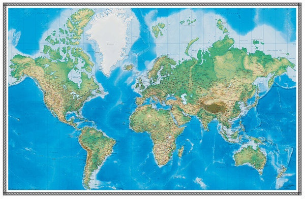Swiftmaps world map wallpaper wall mural geophysical 3d request a custom order and have something made just for you gumiabroncs Choice Image