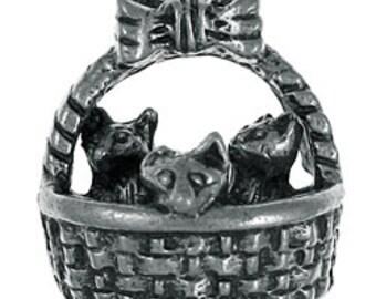 Kittens in a Basket Lapel Pin - CC275