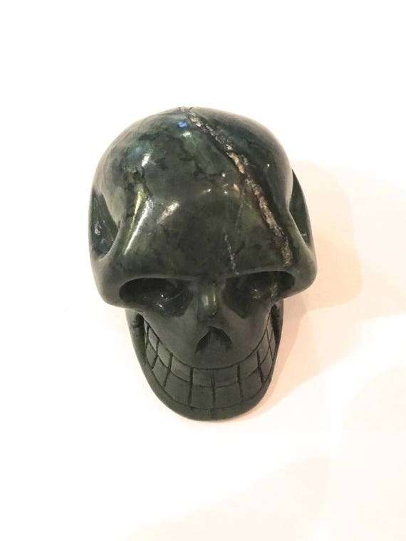 Canadian JADE Skull// Carved Skull// Healing Gemstones// Home Decor// Healing Tools// Crystal Skull// SKULL// CANADIAN Jade// From Canada