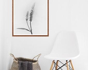 Floral Print, Wall Art, Wild Flower Print, Botanical Print, Vintage Wall Art, Black and White Print, Minimalist Print, Kitchen Wall Art