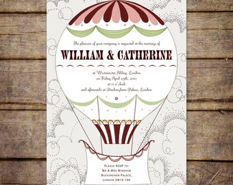 Wedding Invitation Vintage Style