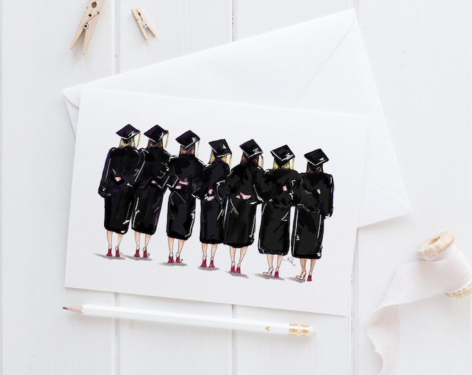 Featured listing image: Grad Friends (Card)(Melsy Cards Sets - Graduation - Grad Cards- Graduation card)