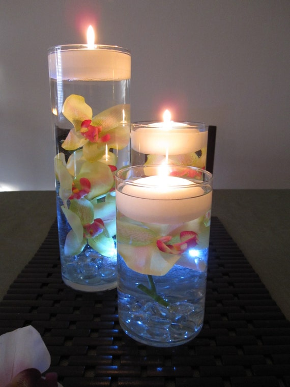 Items similar to green pink orchid floating candle