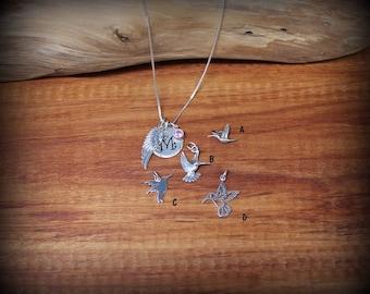 sterling silver add on hummingbird charm