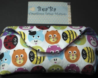 Kids multicolor fabric glasses case