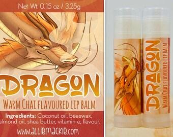 Dragon warm chai flavoured lip balm natural flavour