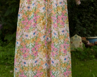 vintage 'QUAD' floral maxi dress with matching short sleeved top.