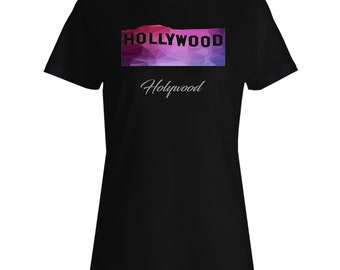 New Hollywood Polygonal Travel World Ladies T-shirt h613f