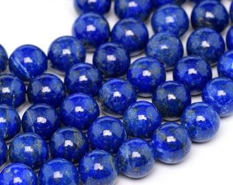 "8MM Lapis Lazuli Beads Afghanistan Grade AAA Genuine Natural Gemstone Full Strand Round Loose Bead 16"" BULK LOT 1,3,5,10 and 50 (100188-894)"