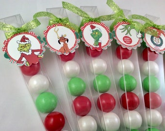 Dr. Suess' Grinch Christmas gumball party favors stocking stuffers
