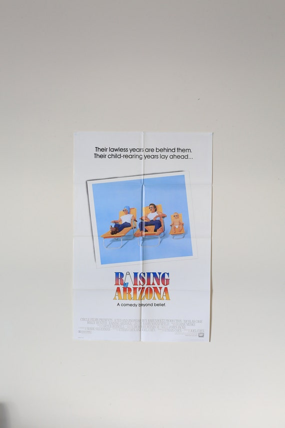 Original Theatrical One Sheet Film Poster - Raising Arizona