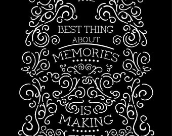 "Prima 9.5x12"" Stencil THE BEST THING Chalk Paint Mixed Media Home Decor #588168"