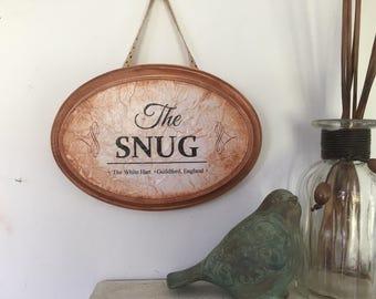 The snug, snug room sign, pub sign, bar signs, english snug sign, snug pub plaque, english pub sign,