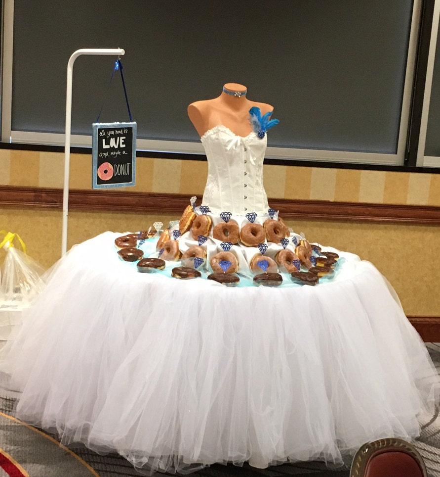 Custom tutu table skirt candy buffet skirt centerpiece head zoom watchthetrailerfo