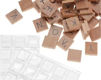100 Scrabble Tiles And Epoxy Stickers Kit - For Pendant Necklaces Earrings, Magnets, Charms, Mosaics,,18×20 scrabble epoxy sticker,wholesale