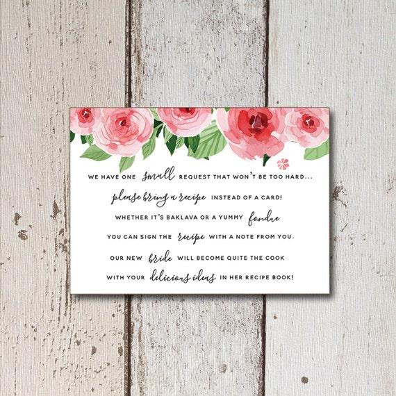 Bridal shower invitation printable recipe cards printable filmwisefo