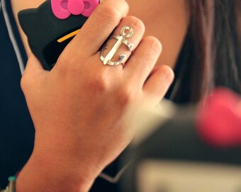 MEDIUM ANCHOR adjustable ring (free shipping)