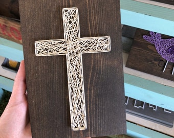 READY TO SHIP String Art Small Cross Sign