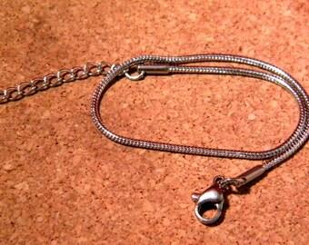 Bracelet 19 cm - stainless steel - 1.5 snake - D107 lobster clasp