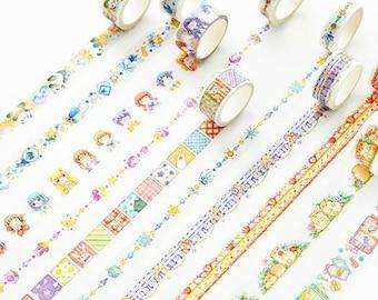 Cute Kawaii Cartoon Hamster Panda Whimsical Washi Tape ~ Masking Tape, Scrapbooking Craft Tape, DIY Paper Craft Supplies, Planner Decorative