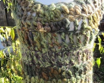 crocheted cap sleeve tunic
