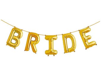 Bride balloon letter balloon set/ decorations / new year / balloons / mylar balloons/ foil balloons/