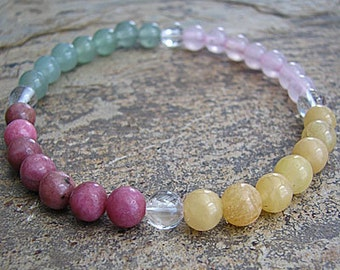 peace of mind- Crystal Energy MEDITATION BRACELET -  Intention Bracelet, Yoga Jewelry, Energy Bracelet, Affirmation Mala Bracelet