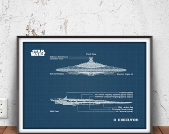 Shelby cobra blueprint shelby cobra poster sports car print executor poster star wars print battle ship blueprint space ship wall art malvernweather Image collections