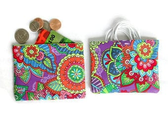 Snap Purse, Charger Cord Bag, Headphone/Earbud Pouch, Colorful Snap Pouch, Mini Snap Bag, Coin Purse, Key Holder,