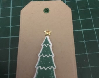 Christmas Gift Tag, Gift Cards Set of 10. Christmas trees