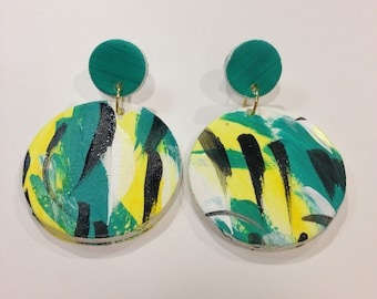 Circle drop earrings - 'Collingrove'