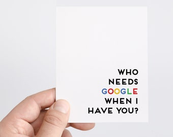Google Card | Funny Fathers Day Card | Geek Card | Nerd Card | Funny Teacher Card | Gifts For Him | Card For Dad | Thank You | Just Because