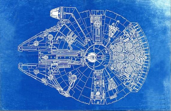 Star wars millennium falcon blueprint art of the millennium malvernweather Images