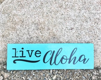Live Aloha wood sign | reclaimed pallet wood home decor