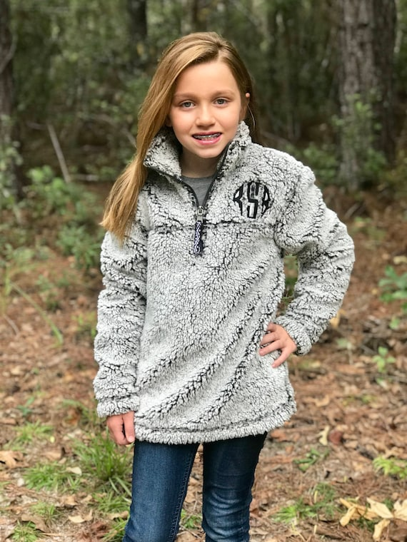 Completely new Monogrammed Sherpa Pullover Women's and Girls Monogrammed TM72