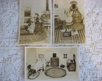 Vintage Post Cards,Photo Cards,Vintage Antique Dolls,Dollhouse Photo,Edna Knowles King,Sepia Tone