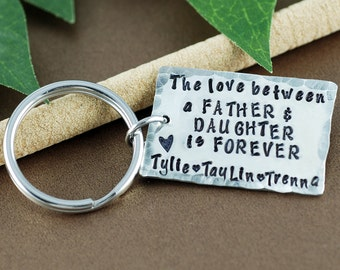 Daddy Keychain from Daughter | Love between Father and Daughter is Forever | Father's Day Keychain | Gift for Dad | Daddy Keychains