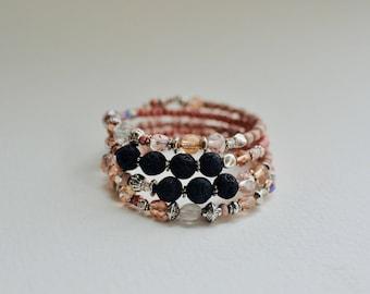 lava bead bracelet, essential oil diffuser bracelet, aromatherapy jewelry, BRAEdesigns