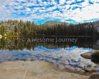 Sunrise Lake - Yosemite National Park - Framed Photography