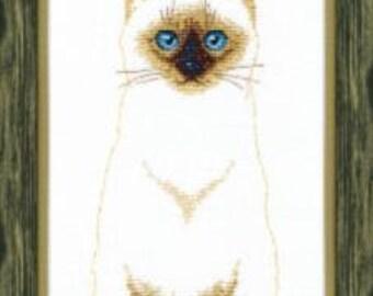 Cross Stitch Kit Siamese cat art. BT-109