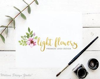 Floral Logo, Logo and Branding for your Business, Gold Hand script Logo, Calligraphy Logo Design (A4.Logo)