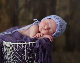 Newborn Ruffle Edge Bonnet