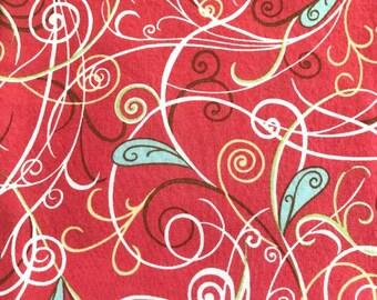 "Moda Sorbet Fabric by Sentimental Studios, Moda Fabric, Pink Quilt Fabric, Floral Quilting Fabric, Pink and Aqua Fabric, 35"" Fabric Cut"