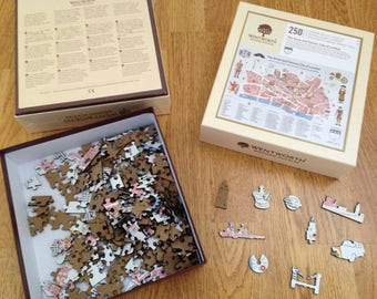 The City Livery laser cut wooden jigsaw puzzle