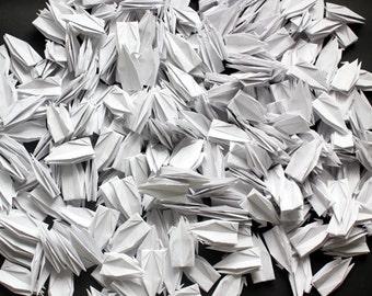 500 Pure White Origami Paper Cranes Crafts Paper Goods Wedding Pure Love 15x15cm Large Origami Crane Wedding Decor