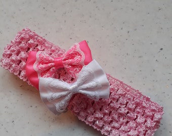 baby headband with 2 removable hair clips