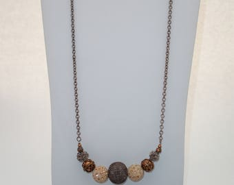 Peach and Copper Necklace