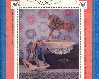 1987 Hearts Content Banbury Cross  Hobby Horse Stuffed Toys Pattern UNCUT