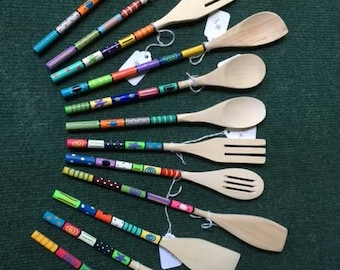 Spoons - Hand-Painted, Small Wooden