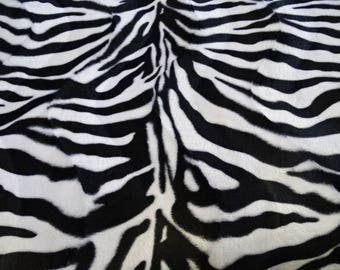 "Fabric ""velboa"" imitation animal zebra pattern"